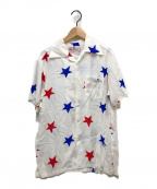 Aloha Blossom(アロハブロッサム)の古着「スタープリントアロハシャツ」 ホワイト