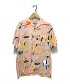 Aloha Blossom(アロハブロッサム)の古着「アトミックアロハシャツ」 ピンク
