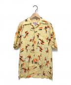 Aloha Blossom(アロハブロッサム)の古着「キング&クイーンアロハシャツ」 ベージュ
