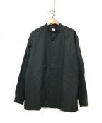 H BEAUTY&YOUTH(エイチ ビューティアンドユース)の古着「タイプライターバンドスリットシャツ」|ブラック