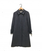 OLD ENGLAND(オールドイングランド)の古着「アンゴラビーバーステンカラーコート」 グレー