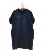 mina perhonen(ミナ ペルホネン)の古着「chouchoドルマンワンピース」|ネイビー