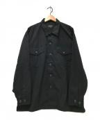 BEAMS(ビームス)の古着「ユーティリティーイージーシャツ」 ブラック