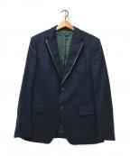BOSS HUGO BOSS(ボスヒューゴボス)の古着「ウールカシミヤテーラードジャケット」|ネイビー
