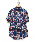 BOSS HUGO BOSS(ボスヒューゴボス)の古着「S/S総柄シャツ」|ブルー