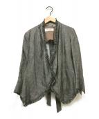 ()の古着「トッパーフリンジジャケット」|グレー