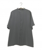HARE(ハレ)の古着「S/Sノーカラーシャツ」 グレー
