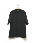 HARE(ハレ)の古着「S/Sノーカラーシャツ」 ブラック