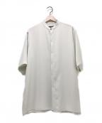 HARE(ハレ)の古着「S/Sノーカラーシャツ」 ホワイト