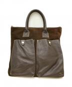 zanellato(ザネラート)の古着「レザースウェードトートバッグ」|ブラウン
