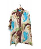 ()の古着「アロハシャツ」 ブラウン