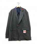 Maison MIHARA YASUHIRO(メゾン ミハラヤスヒロ)の古着「オーバーサイズテーラードジャケット」|グレー