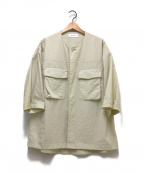 eN ROUTE(アンルート)の古着「ナイロンオックスノーカラー2ポケットショートスリーブ」|ベージュ