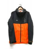 ()の古着「RAIN JACKET」 ブラック×オレンジ
