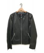 ()の古着「ラムレザージャケット」|ブラック