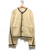 sulvam(サルバム)の古着「フリースノーカラージャケット」|ホワイト