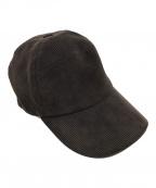 HERMES(エルメス)の古着「Hロゴ刺繍キャップ」|ブラウン