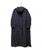 LE CIEL BLEU(ルシェルブルー)の古着「ユーティリティーフードコート」 ネイビー