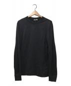 ()の古着「ロゴ入りテープ付きストレッチL/S Tシャツ」 ブラック