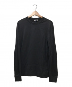 MONCLER(モンクレール)の古着「ロゴ入りテープ付きストレッチL/S Tシャツ」|ブラック