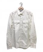 DIESEL(ディーゼル)の古着「L/Sコットンシャツ」|ホワイト