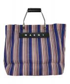 ()の古着「メッシュトートバッグ」|ブルー×ピンク