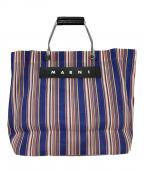 MARNI(マルニ)の古着「メッシュトートバッグ」|ブルー×ピンク