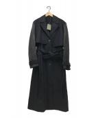 ()の古着「レイヤードコート」|ブラック