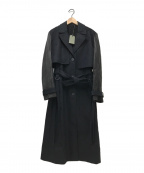 ALL SAINTS(オールセインツ)の古着「レイヤードコート」|ブラック
