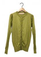 MARNI()の古着「カシミヤカーディガン」 グリーン