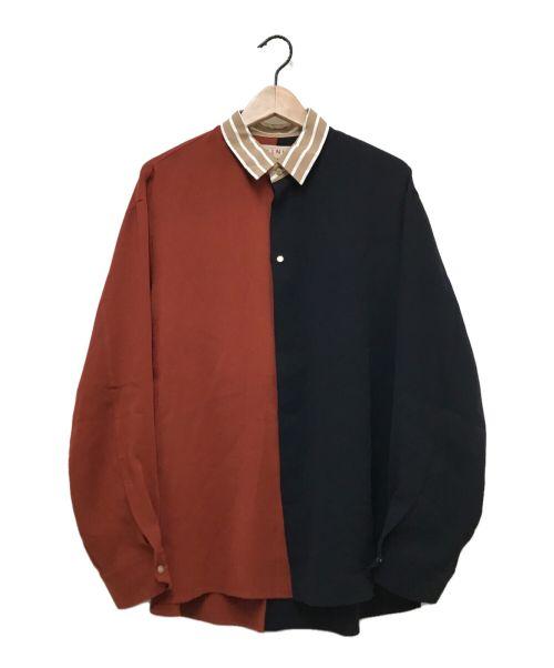 CULLNI(クルニ)CULLNI (クルニ) EX.CLERIC BICOLOR SH ブラウン×ネイビー サイズ:1の古着・服飾アイテム