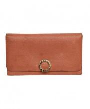 BVLGARI(ブルガリ)の古着「ロゴクリップ長財布」|ピンク