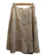 JUNYA WATANABE COMME des GARCONS(ジュンヤワタナベ コムデギャルソン)の古着「パッチワークリネンスカート」|ベージュ