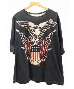 VOTE MAKE NEW CLOTHES(ヴォート メイク ニュー クローズ)の古着「ビッグTシャツ」|ネイビー
