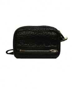 Lucien pellat-finet(ルシアンペラフィネ)の古着「モノグラムラウンドファスナー財布」|ブラック