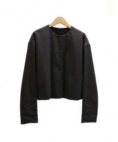 JOSEPH(ジョゼフ)の古着「ノーカラージャケット」|グレー