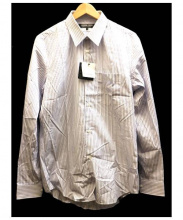 COMME des GARCONS HOMME DEUX(コムデギャルソンオムデュー)の古着「ストライプシャツ」|ブルー