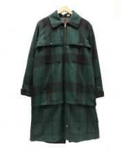 YOUNG&OLSEN(ヤングアンドオルセン)の古着「ダブルクルザーコート」|グリーン×ブラック