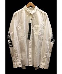 UNIFORM EXPERIMENT×WHITE LINE(ユニフォームエクスペリメント×ホワイトライン)の古着「袖メッシュプリントシャツ」|ホワイト