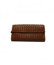 BOTTEGA VENETA(ボッテガ・ヴェネタ)の古着「長財布」 ブラウン