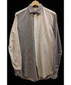 Salvatore Piccolo(サルヴァトーレ・ピッコロ)の古着「クレイジーパターンシャツ」 ネイビー×ホワイト×グレー