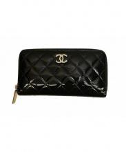 CHANEL(シャネル)の古着「エナメルマトラッセ長財布」|ブラック