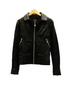 DOMA(ドマ)の古着「レザーライダースジャケット」|ブラック