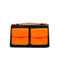 Marc by Marc Jacobs()の古着「Back Pocket Small Clutch」|オレンジ×ネイビー