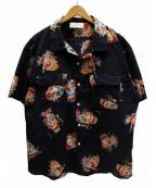 VOTE MAKE NEW CLOTHES(ヴォートメイクニュークローズ)の古着「CLOWN S/S SHIRTS」|ネイビー