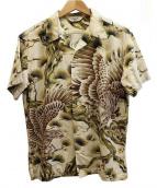 CALEE(キャリー)の古着「ORIENTAL PATTERN HAWAIIANシャツ」|アイボリー×ブラック