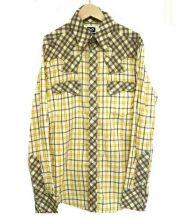 D&G DOLCE & GABBANA(D&G ドルチェ&ガッバーナ)の古着「ウエスタンチェックシャツ」 イエロー×ホワイト