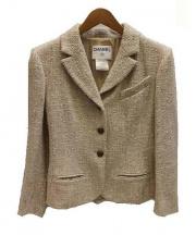 CHANEL(シャネル)の古着「リネンレーヨン混3Bジャケット」|ベージュ