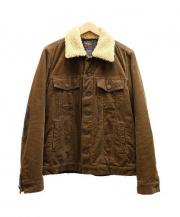 R.H.Vintage(ロンハーマンヴィンテージ)の古着「ムートンボアランチジャケット」|ブラウン
