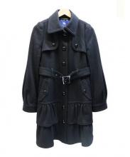 BURBERRY BLUE LABEL(バーバリーブルーレーベル)の古着「フレアウールコート」|ブラック